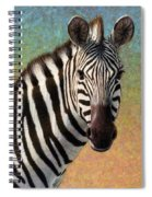 Portrait Of A Zebra - Square Spiral Notebook