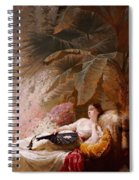 Portrait Of Adelaide Maria Guiness Reclining On A Sofa In A Conservatory Spiral Notebook