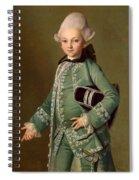 Portrait Of Aleksey Bobrinsky As A Child Spiral Notebook