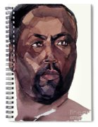 Watercolor Portrait Of An Athlete Spiral Notebook