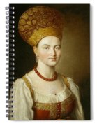 Portrait Of An Unknown Woman In Russian Costume Spiral Notebook