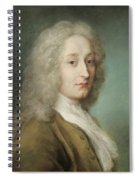 Portrait Of Antoine Watteau 1684-1721 Pastel On Paper Spiral Notebook