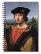 Portrait Of Charles Damboise 1471-1511 Marshal Of France Oil On Panel Spiral Notebook