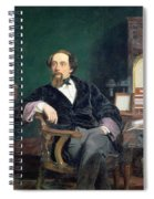 Portrait Of Charles Dickens Spiral Notebook