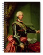 Portrait Of Charles IIi 1716-88 C.1761 Oil On Canvas Spiral Notebook