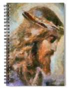 Portrait Of Christ Spiral Notebook