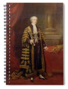 Portrait Of Colonel Sir Samuel Wilson, Lord Mayor Of London, 1838 Oil On Canvas Spiral Notebook
