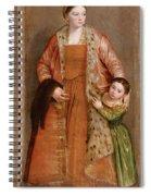 Portrait Of Countess Livia Da Porto Thiene And Her Daughter Deidamia Spiral Notebook