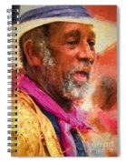 Portrait Of Dr. Luv - Painting Spiral Notebook