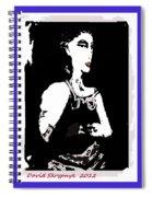 Portrait Of Drina Spiral Notebook