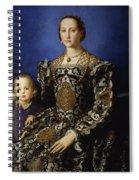 Portrait Of Eleanor Of Toledo With Her Son Giovanni De' Medici Spiral Notebook