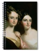 Portrait Of Ellen And Mary Mcilvaine, 1834 Oil On Canvas Spiral Notebook