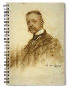 Portrait Of Emile Bertaux Spiral Notebook