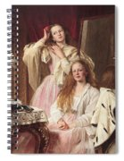 Portrait Of Emma And Frederica Bankes Spiral Notebook