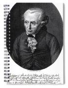Portrait Of Emmanuel Kant  Spiral Notebook