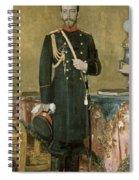 Portrait Of Emperor Nicholas II 1868-1918 1895 Oil On Canvas Spiral Notebook