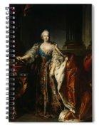 Portrait Of Empress Elizabeth, 1758 Oil On Canvas Spiral Notebook