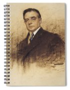 Portrait Of Enric Borras Spiral Notebook