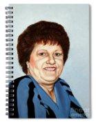 Portrait Of Essie Simon  Spiral Notebook