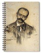 Portrait Of Gabriel Alomar Spiral Notebook