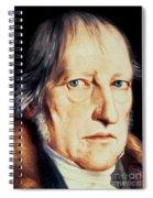 Portrait Of Georg Wilhelm Friedrich Hegel Spiral Notebook