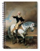 Portrait Of George Washington Taking The Salute At Trenton Spiral Notebook