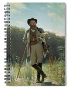 Portrait Of Ivan Ivanovich Shishkin Spiral Notebook