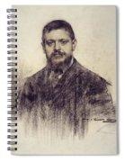 Portrait Of Jaume Carner Spiral Notebook