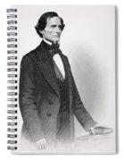 Portrait Of Jefferson Davis Spiral Notebook