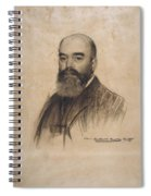 Portrait Of Joan Garriga Spiral Notebook