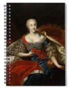 Portrait Of Johanna-elizabeth, Electress Of Anhalt-zerbst, C.1746 Oil On Canvas Spiral Notebook