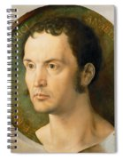 Portrait Of Johannes Kleberger Spiral Notebook