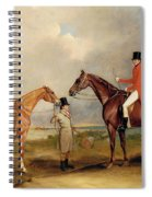 Portrait Of John Drummond On A Hunter With A Groom Holding His Second Horse Spiral Notebook