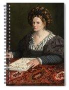 Portrait Of Laura Pisani Spiral Notebook