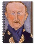Portrait Of Leon Bakst Spiral Notebook
