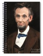 Portrait Of Lincoln Spiral Notebook
