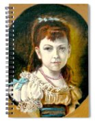 Portrait Of Little Girl Spiral Notebook