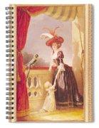 Portrait Of Louise-elisabeth De France 1727-59 Duchess Of Parma And Her Son Ferdinand 1751-1802 Spiral Notebook