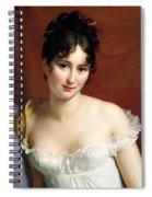 Portrait Of Madame Recamier  Spiral Notebook