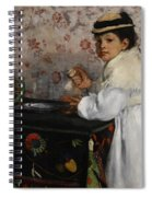 Portrait Of Mademoiselle Hortense Valpincon Spiral Notebook