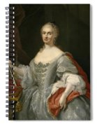 Portrait Of Maria Amalia Of Saxony As Queen Of Naples Overlooking The Neapolitan Crown Spiral Notebook