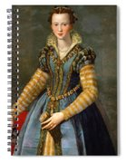 Portrait Of Maria De Medici Or Eleonora Di Garzia Di Toledo Spiral Notebook