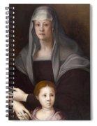 Portrait Of Maria Salviati De' Medici With Giulia De' Medici Spiral Notebook