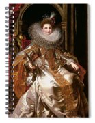 Portrait Of Maria Serra Pallavicino Spiral Notebook