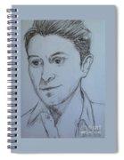 Portrait Of Mark Owen Spiral Notebook