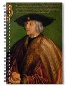 Portrait Of Maximilian I Spiral Notebook