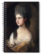 Portrait Of Miss Elizabeth Linley  Later Mrs Richard Brinsley Sheridan Spiral Notebook
