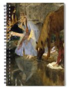Portrait Of Mlle Fiocre In The Ballet La Source Spiral Notebook