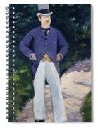 Portrait Of Monsieur Brun Spiral Notebook