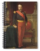 Portrait Of Napoleon IIi 1808-73 1862 Oil On Canvas Spiral Notebook